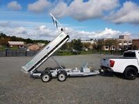 Builders electric tipping trailer, perfect for garden waste soil stones tools