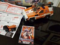 Transformers powerlink red alert and minicon boxed with instructions