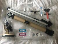 Telescope and microscope set £20 ONO