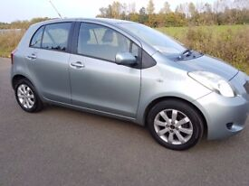 58 REG TOYOTA YARIS 1.3 VVT-I TR 5 DOOR PETROL MANUAL 116K WITH 11 TOYOTA SERVICE STAMPS TO 112K