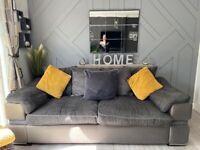 Sofa and cuddle/swivel chair