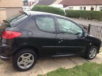 Peugeot 1.1 Sport, 2 door hatch in black