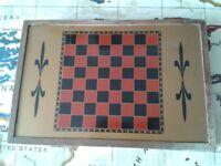 Vintage Magnetic Chess/Backgammon/Draughts Travel Set £25