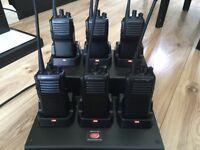 Vertex Standard VX-231 Two Way Radio x 6 + charging cradle