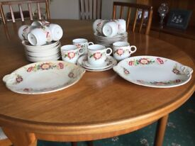 12 piece old coffee cup set