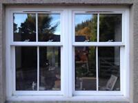 7 PVC white double glazed sash Windows