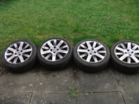 "17 "" Alloy wheels + tyres - from a Peugeot 207 - will fit other cars"