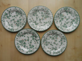 BHS COUNTRY VINE 26cm DINNER PLATES X5 BRITISH HOME STORES