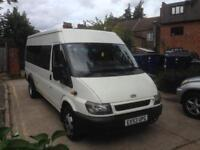 Ford transit 2.4 Di 17 seater minibus 53 plate absolutely lovely condition £1800