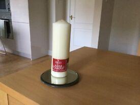 PRICE'S Cream Altar Pillar Candle 25cm x 8 cm