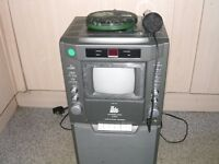 Karaoke machine and microphone