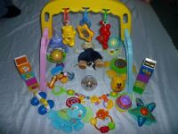 Baby Gym with assorted Baby Toys etc