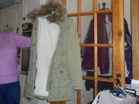 Hollister Parka Coat Size XS