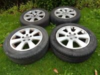 "Audi A3 16"" Alloys with Tyres - Fits Audi A3 and VW Golf MK5 and many more 5x112"