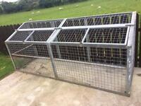 Heavy duty caged run/bunker