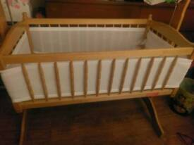 Wooden Rocking Crib / Cot