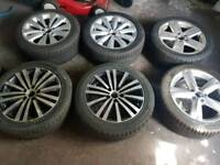 selection of 17 a d 18inch alloys with new tyres passat cc golf jetta caddy also 245 40 18 tyres
