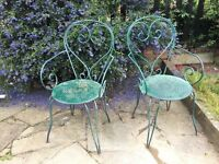 FREE Green metal garden chairs x 2.