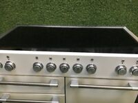 Immaculate Snowdrop white Mercury 1200 range cooker induction hob Large oven