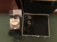 PS2 with aluminium case + games+extra random bits