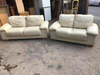 Designer real leather sofa Set 2 & 3 seater