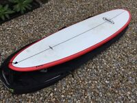 "Epoxy Takeoff flying carpet surfboard 6' 10"""
