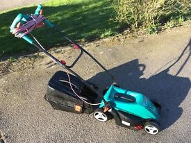 Bosch Rotak 340ER lawnmower - less than 12 months old