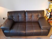 2 seater leather sofa, good condition, collection only