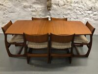 Mid Century Dining Table and 6 Chairs by Portwood of Stockport