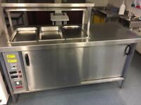 Hot cupboard with heat lights. Excellent condition.