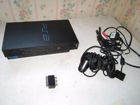 black ps2 console bundle,4 games+controller