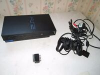 black ps2 console bundle,4 games+controller