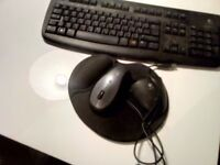 Logitech wi fi keyboard with mouse + pad