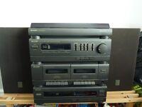 Sharp Record/CD/Tape/radio and 2 speaker Audio system