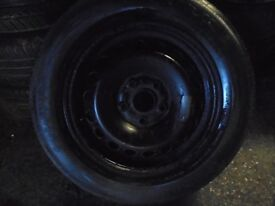 """15"""" spare steel wheel with tyre 5x112 single vw audi fitment"""