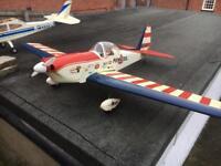 RC Super Chipmunk 4 Stroke Nitro Plane.