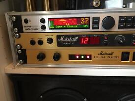 Marshall Rack JMP-1, 20/20 Power amp, TC Electronic G-Major 2 and Stereo Cab.