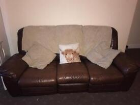 Brown Leather 2+3 seater