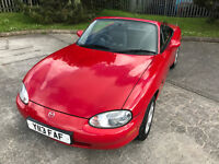 2001 MAZDA MX-5 CONVERTIBLE CABRIOLET ISOLA RED 48,201 MILES