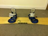 Burton Snowboard, bindings and bag