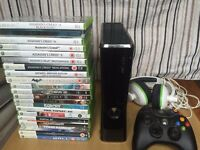 FOR SALE! - XBOX 360 (250GB - SLIM) WITH 2 CONTROLLERS, 20 GAMES AND HEADSET
