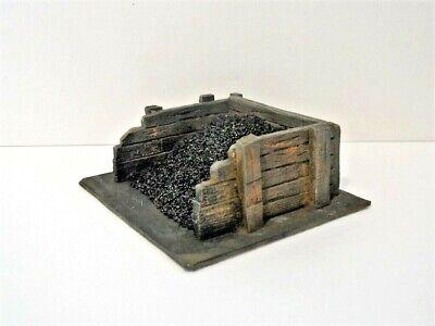 O Gauge / 7mm lineside coal bunker kit / ballast bin - sleeper built