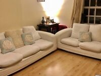 2 seater and 3 seater cushion back sofas