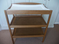 Wooden Baby Changing Table With Mat Included