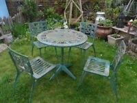 Lovely Stylish Vintage Flex Alum Garden Table & 4 Chairs-Furniture-Upcycle
