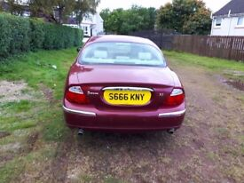 S Type Jaguar complete with personalised registration plate