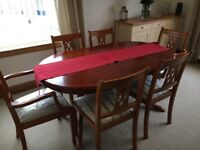 Dining room table plus 6 chairs