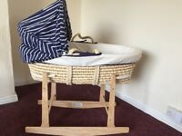 Mothercare moses basket £40