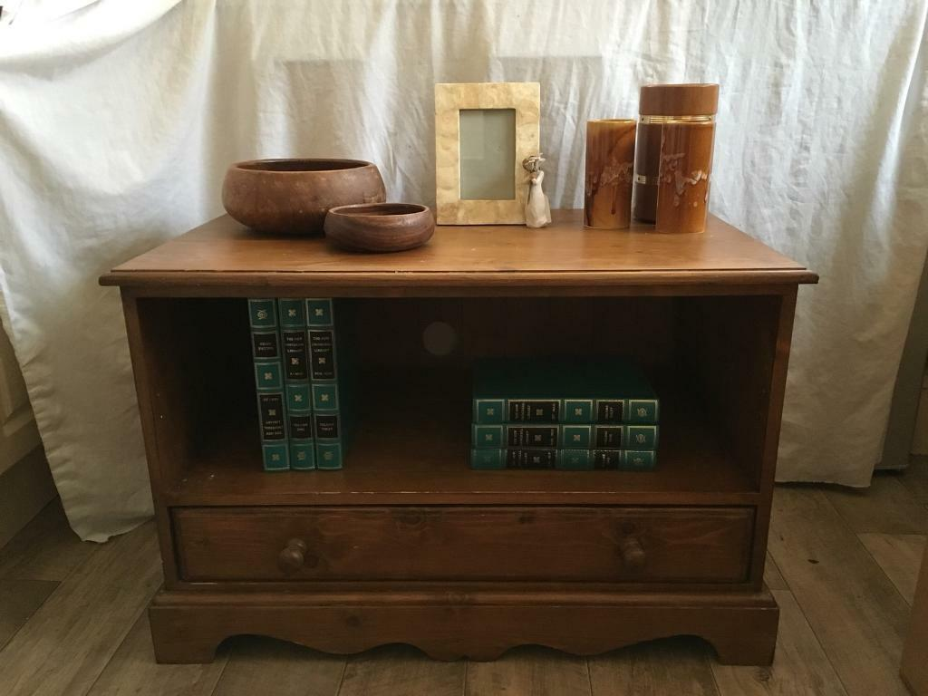 Solid ANTIQUE pine TV CABINET UNIT with DOVETAIL JOINTS deliver available  SIDEBOARD - Solid ANTIQUE Pine TV CABINET UNIT With DOVETAIL JOINTS Deliver