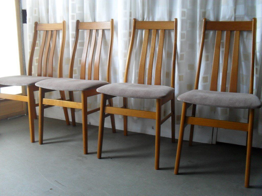 Strange Set Of Four Danish Farstrup Teak Dining Chairs Free Delivery In Castlemilk Glasgow Gumtree Squirreltailoven Fun Painted Chair Ideas Images Squirreltailovenorg